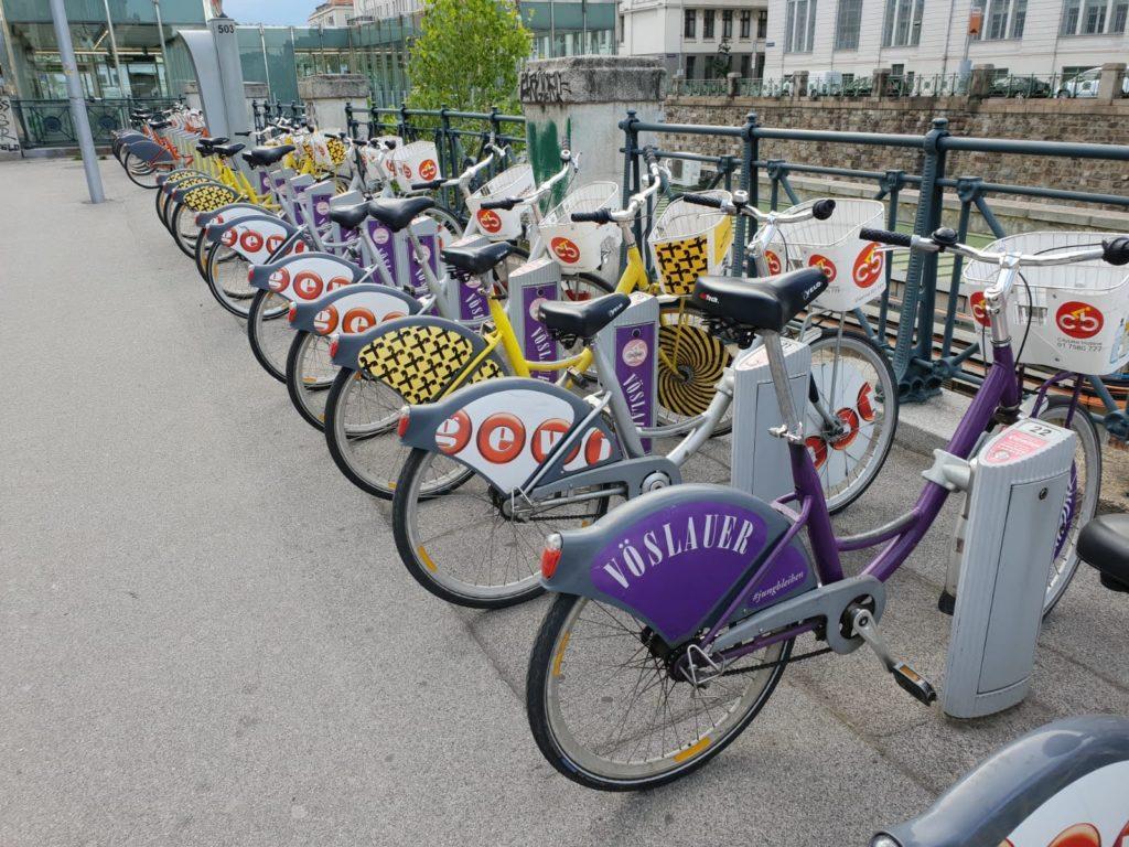 Gratis Citybikes nahe Mauthaus-Schönbrunn-Pop-Up-Shop